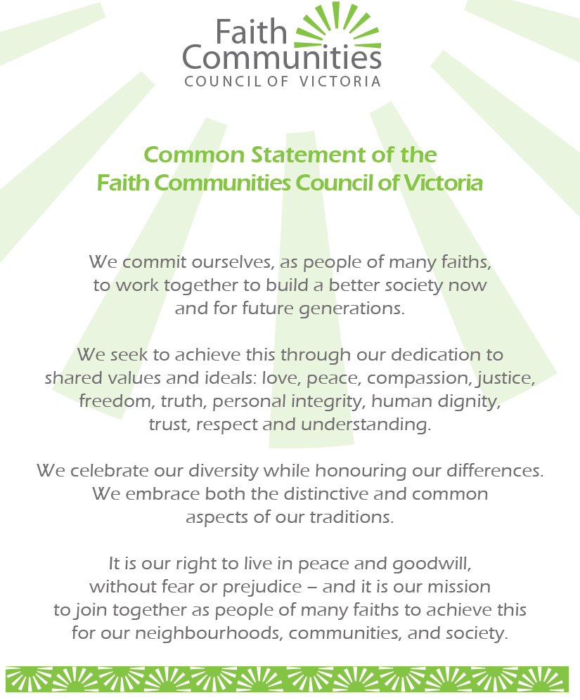 FCCV Common Statement